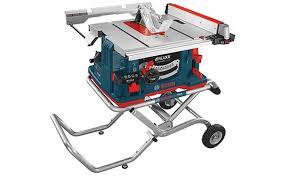 Job Site Table Saw Bosch Gts1041a Reaxx Jobsite Table Saw Tool Box Buzz Tool Box Buzz