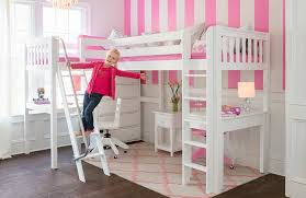 girls loft bed with desk underneath best 25 bunk bed desk ideas on