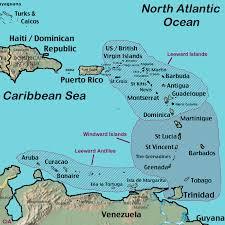 map of the islands windward islands map leeward islands map satellite image