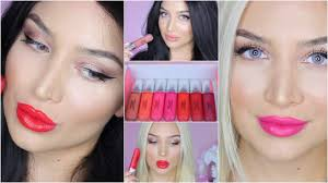 Revlon Hair Color Coupons Revlon Ultra Hd Matte Lipcolor Swatches On Blonde Brunette Youtube