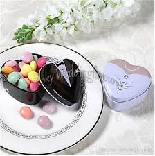 wedding favor containers and groom favor tins candy boxes heart design tin favor