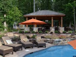 Western Red Cedar Outdoor Furniture by Western Red Cedar Pavilion Fireplace Outdoor Kitchen And Pergola