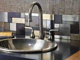 Metal Backsplash Ideas by Astounding Metal Backsplash Designs Bronze Materials Grout