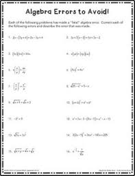 use these free algebra worksheets to practice your order of