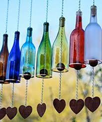 9 adorable garden crafts to make with wine bottles wind chimes
