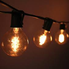 C7 String Lights Outdoor by 10 Socket Outdoor Patio String Light Set G50 Edison Spiral Globe Bulbs 10 Ft Black Cord W E17 Base 13 Jpg