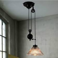 pulley pendant light fixtures new modern loft vintage edison industrial pulley pendant lights w in