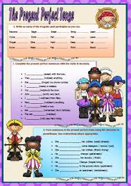 perfect tense elementary worksheet