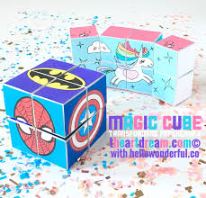 try this transforming magic cube papercraft it will totally