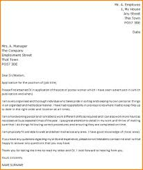 cover letter for post office format