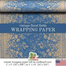 vintage floral wrapping paper vintage floral fields wrapping paper from pineandberryshop