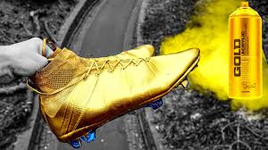Spray Paint Your Shoes - gold cristiano ronaldo boots fake spray painted nike mercurial