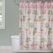Flamingo Shower Curtains Saturday Flamingo Shower Curtain Jcpenney