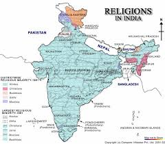 hinduism map religions in india indian religions
