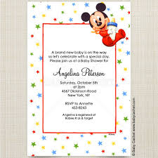 mickey mouse baby shower invitations disney baby shower invites 18100