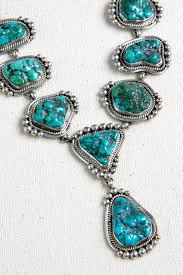 turquoise silver necklace jewelry images Navajo turquoise nugget and sterling silver necklace silver jpg