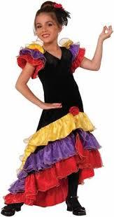 Irish Dance Costume Halloween Long Flowing Gold Costumes Girls Spanish Flamenco Dancer