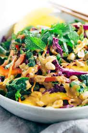 crunchy thai salad with creamy peanut dressing jessica gavin
