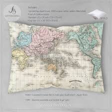 antique map world antique map of world bedding vintage map duvet cover antique
