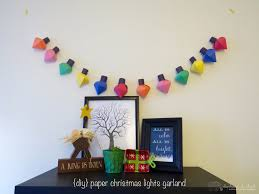 How To Make Christmas Light by Diy Paper Christmas Lights Garland Elephantandchick