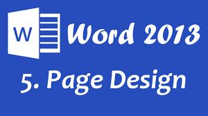 tutorial youtube word microsoft word 2013 page design tutorial youtube