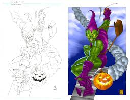 green goblin pencils and color by daikkenaurora on deviantart