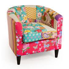 tissu pour fauteuil crapaud petit fauteuil cabriolet patchwork tissu bohème