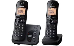 panasonic twin phone with answering machine kx tgc222 panasonic