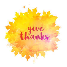 stylish text thanks giving on maple leaves decorated background
