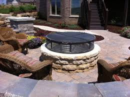 Outdoor Firepit Cover Outdoor Sculpture Furniture Prairie Metal Wi