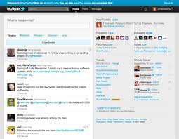 layout of twitter page twitter launches reved site with ipad like design