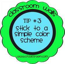 classroom walls tip 3 simple color scheme clutter free classroom