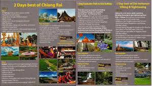 chiang mai local tours thailand brochures tour info price