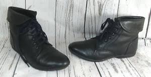 s kangol boots uk kangol black faux leather lace up ankle boots uk 5 ebay