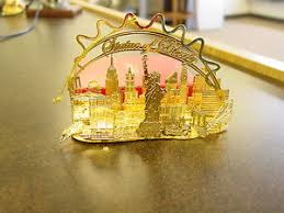 5 gold plated ornaments statue of liberty new york skyline ebay