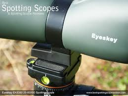 spotting scope window mount eyeskey ek8380 20 60x80 spotting scope review