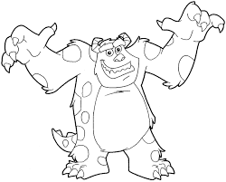 draw sulley monsters easy step step
