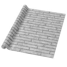 gray wrapping paper white brick wall wrapping paper zazzle
