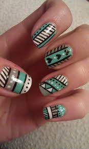 best 25 tribal nail designs ideas on pinterest teal nail