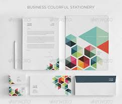 business colorful stationey graphicriver corporate identity