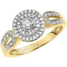 engagement ring walmart keepsake ariela 3 8 carat t w certified 10kt yellow gold