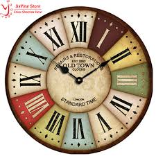 wall clocks antique vintage wood wall clock roman numerals country style