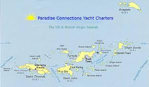map of bvi and usvi sle yacht charter itinerary usvi islands