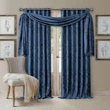 Navy Window Curtains Navy Window Treatments The Home Depot