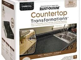 kitchen kitchen countertop reveal using the rust oluem paint kits