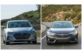 honda civic or hyundai elantra 2017 hyundai elantra vs 2017 honda civic to u s