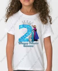 birthday frozen shirt iron disney shirt transfer