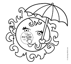 coloring pages with sun for kids seasons printable coloring pages