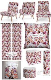 tissu canapé au mètre tissus rideaux imprimés floraux fleurs fleuris