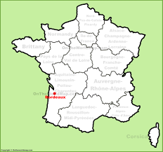 map of bordeaux bordeaux location on the map